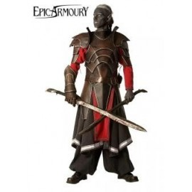 Dark Elven Deal, LARP Leather Armour with Garment