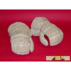 "Gloves with ""cuff"" with plate parts sewed inside"