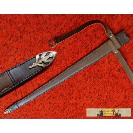 CUSTOM MADE SCABBARD WITH FITTING