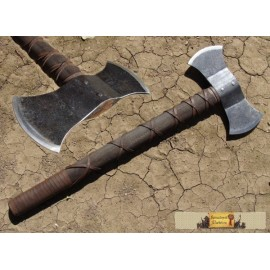 DOUBLE BLADED AXE, forged, light version