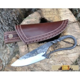 VÖLUNDR, forged viking knife and sheath de luxe