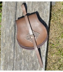 LEATHER BAG FOR EARLY MEDIEVAL PERIOD - Vikings, Slavs, Avars, Magyars