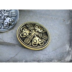 Small Viking brooch in Borre style - silver