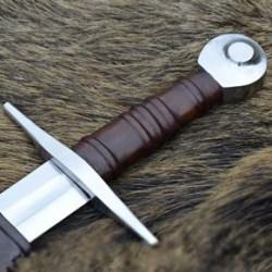 13c Crusader Sword w/ scabbard, octagonal pommel, practical battle - ready