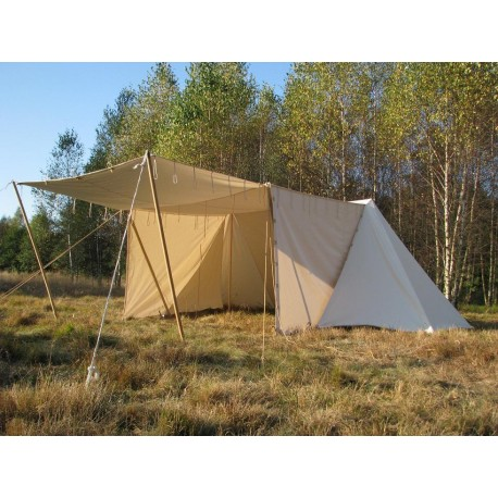 Merchant GETELD Tent 3 x 6m with winshields - cotton