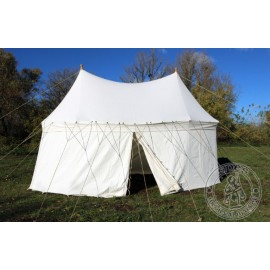 Umbrella tent with two poles (6 x 3 m) - cotton