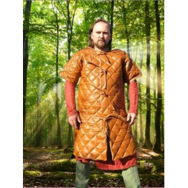 Leather Gambeson short sleeved
