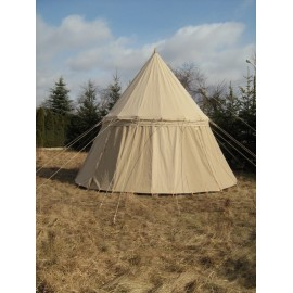Umbrella Tent - linen - 4 m high and 5m in diameter