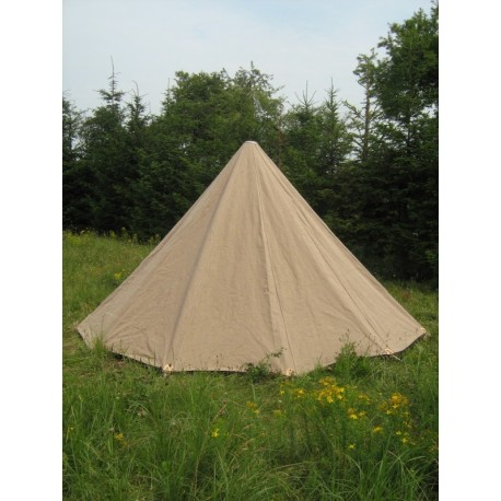 Conical Tent - 4m diameter x 3,4 m high - cotton impregnated