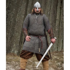 Chainmail Shirt - Hauberk, riveted, 8 mm, short sleeves, chest size 140 cm
