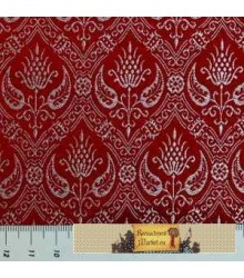 Brocade Spanish Rennaisance, Red