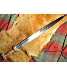 CELTIC SWORD, Iron Age sword, museum replica, forged blade