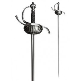 Ribbed Shell Swept Hilt Rapier