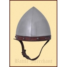 Archer Domed Helmet, 1.6 mm steel with leather liner